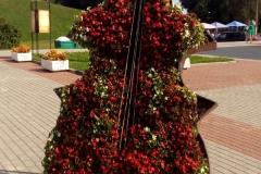 клумба в форме гитары