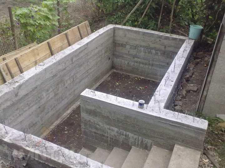 Погреб из бетона