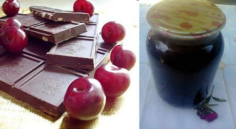 шоколадное вишневое варенье